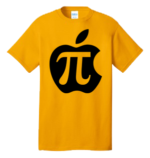 Apple Pi 100% Cotton Tee Shirt #K003