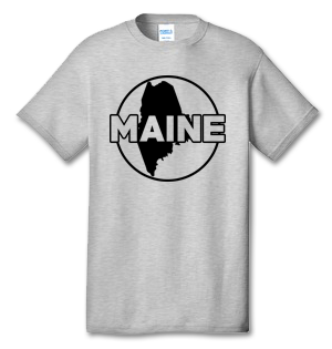 MAINE 100% Cotton Tee Shirt #L001