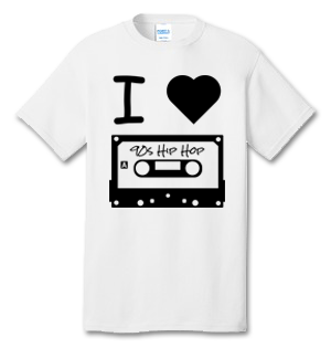 I Love 90s Hip Hop 100% Cotton Tee Shirt #M002