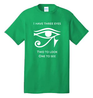 I HAVE THREE EYES 100% Cotton Tee Shirt #N001