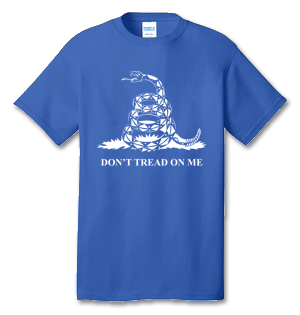 Don't Tread On Me 100% Cotton Tee Shirt #P001