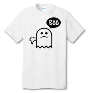 Ghost Says Boo 100% Cotton Tee Shirt #R002