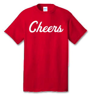 Cheers 100% Cotton Tee Shirt #S001
