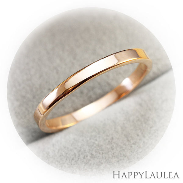 14K Solid Gold 2mm Simple Wedding Band