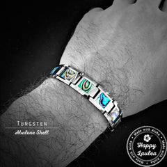 Tugnsten Carbide 13mm Bracelet with Abalone Shell Inlay