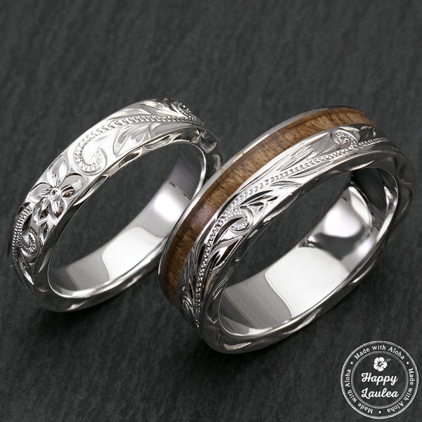 Koa Wood Wedding Rings