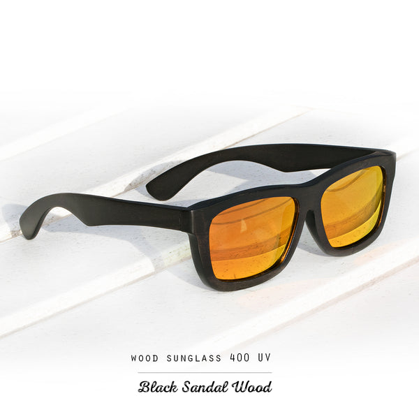 Black Sandal Wood Polarized Sunglasses with 400 UV - 100% Protection