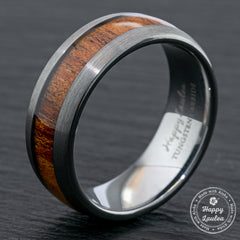 Tungsten Carbide Brushed Finish Ring  / 8mm /  Dome Shape / Comfort Fitment