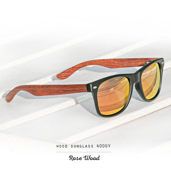 Rose Wood Polarized Sunglasses with 400 UV - 100% Protection