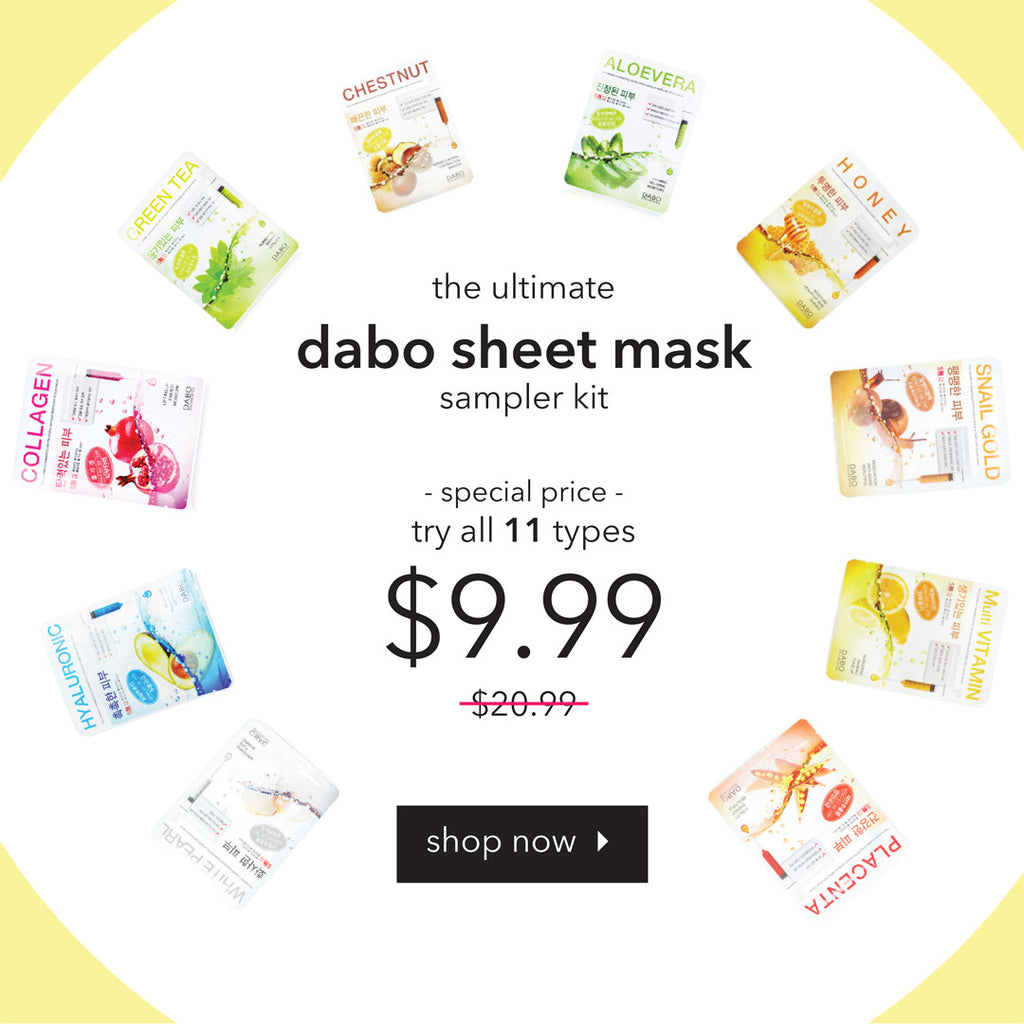 Crazy. Awesome. Deal. 11 Dabo Sheet Masks for an Incredible Price