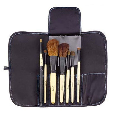 Cala Cosmetics Brush Collection with Carrying Case | Blue Scandal