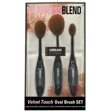 Cala Velvet Touch Oval Brush Set | Blue Scandal