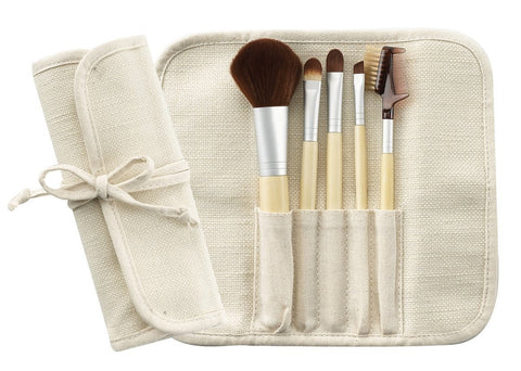 Cala Eco-Friendly 5pc Bamboo Brush Set | Blue Scandal