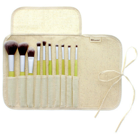 BH Cosmetics 10 pcs Eco Brush Set | Blue Scandal