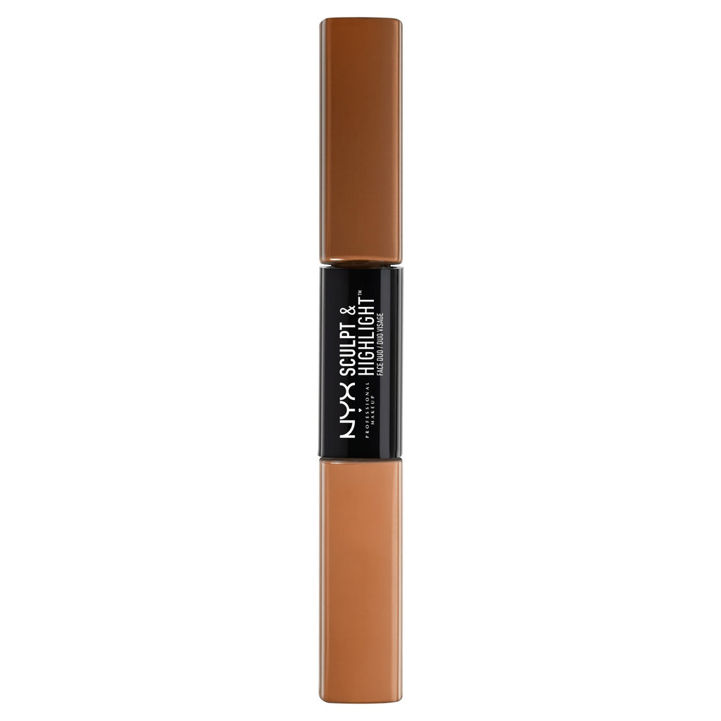NYX NYX Professional Makeup Sculpt & Highlight Face Duo Chestnut 1.01oz SHFD05 | Blue Scandal