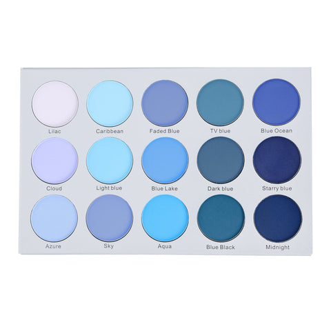 Kara KARA Beauty ES22 15 Color Smoky Blue Eyeshadow | Blue Scandal