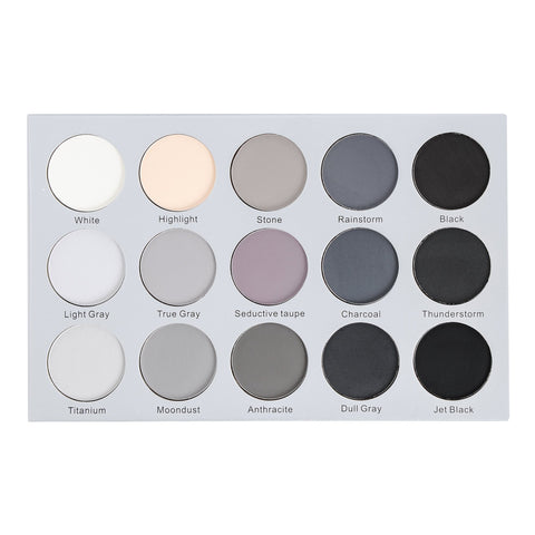 Kara KARA Beauty ES24 15 Color Smoky Grey Eyeshadow | Blue Scandal
