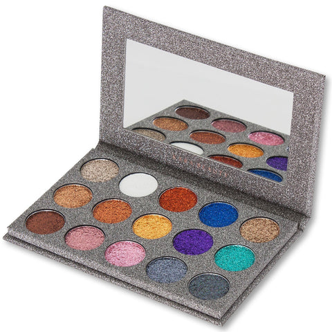 Kara ES38 15 Color Galaxy Glitter Palette