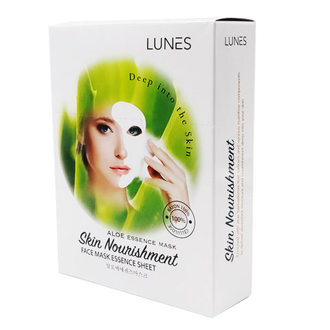 LUNES Aloe Essence Mask (10-Pack)