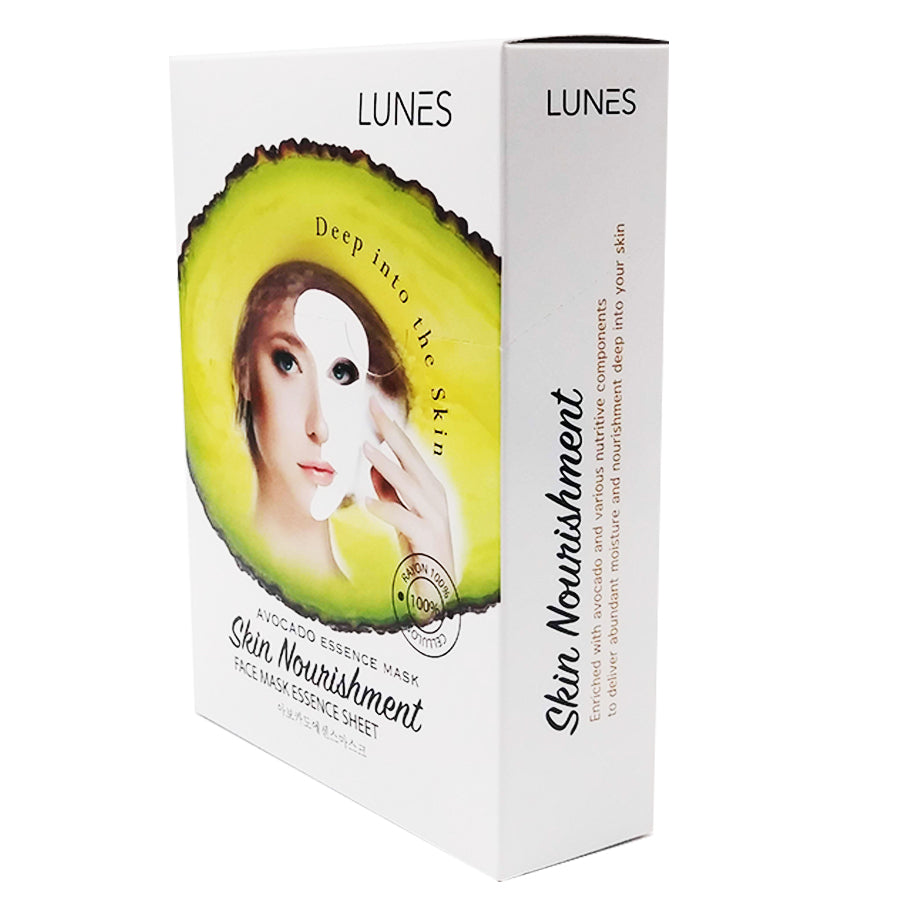 LUNES Avocado Essence Mask (10-Pack)