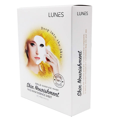 LUNES Gold Essence Mask (10-Pack)