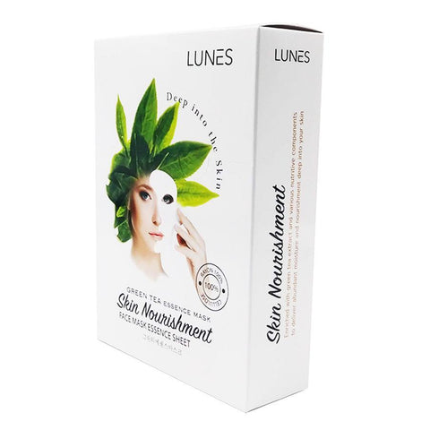 LUNES Green Tea Essence Mask (10-Pack)