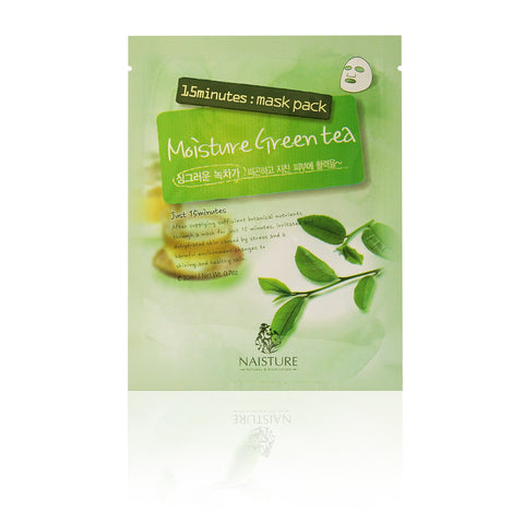 Naisture 15 Minute Green Tea Mask Pack (10 Sheets) | Blue Scandal