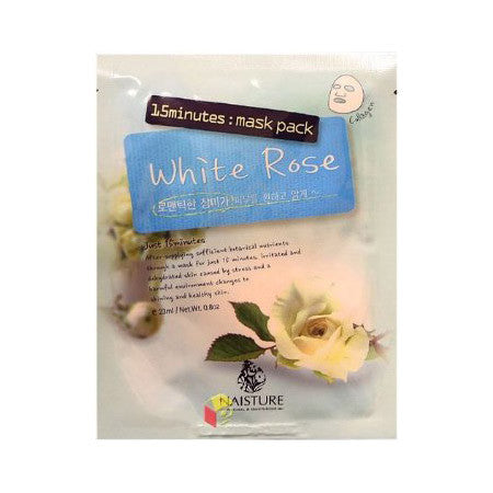 Naisture 15 Minute White Rose Mask Pack (10 Sheets) | Blue Scandal