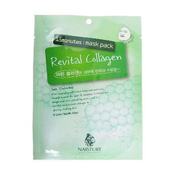 Naisture 15 Minute Revital Collagen Mask Pack (10 Sheets) | Blue Scandal