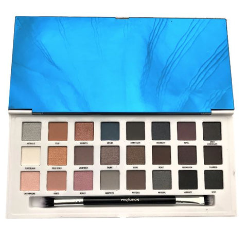 Profusion Cosmetics Profusion Cosmetics 24 Color Matte Eyeshadow Palette | Blue Scandal