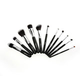 Beauty Creations Beauty Creations 11 Pc DARK NIGHT Black and Silver Brush Set | Blue Scandal