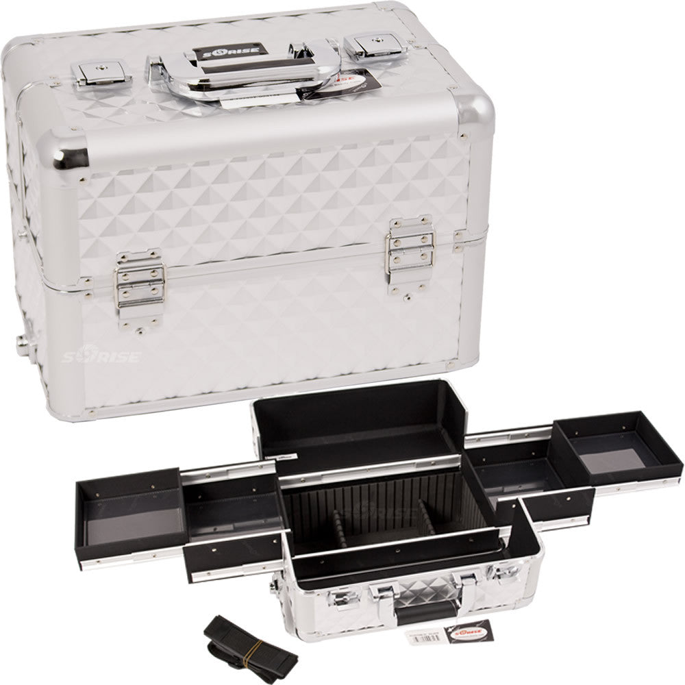 Silver Diamond Pro Makeup Case - E3301