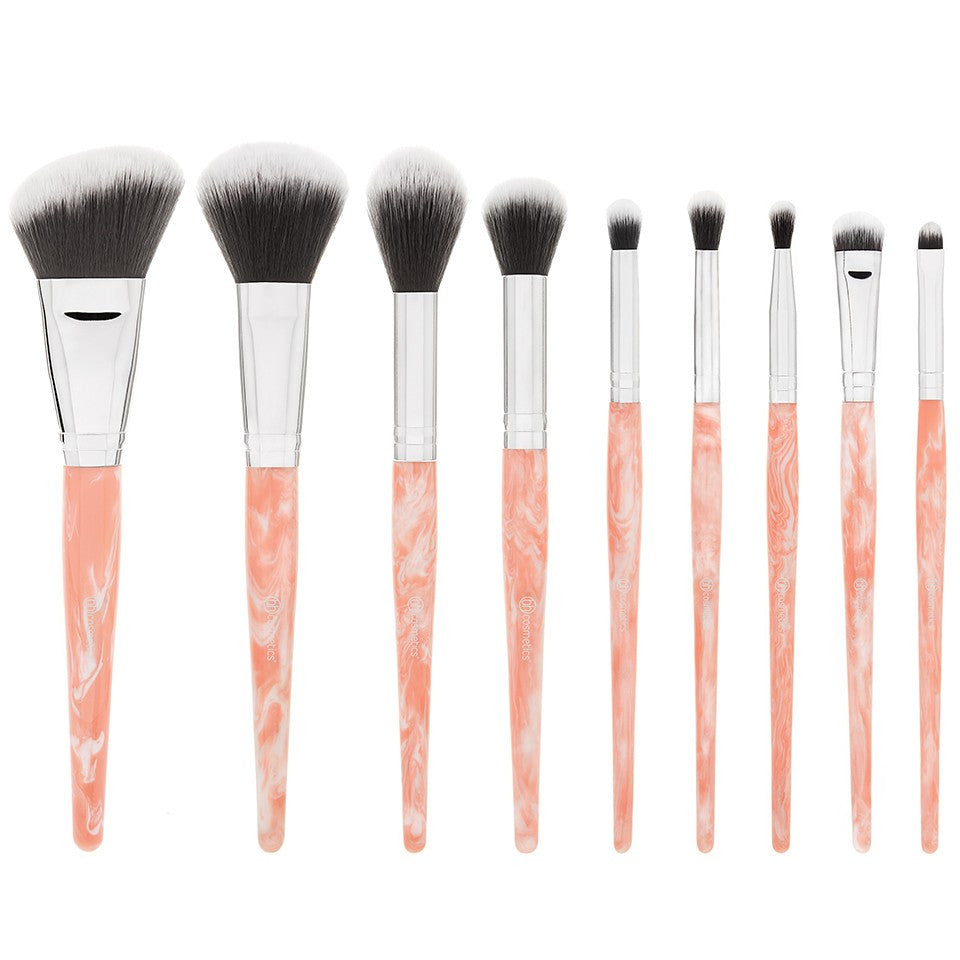 BH Cosmetics Rose Quartz – 9 Piece Brush Set | Blue Scandal