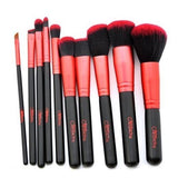 BEAUTY CREATIONS Cosmetic 10PC Eyeshadow Face Powder Foundation Lip Brush Set