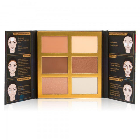 J.Cat Beauty (3 Pack) Symphony Face Obsession Highlight, Contour&Bronzer Palette SFO102 | Blue Scandal