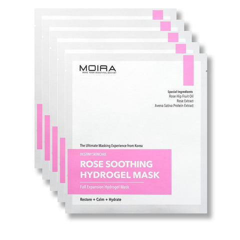 Rose Soothing Hydrogel Mask Set (5 Sheets)