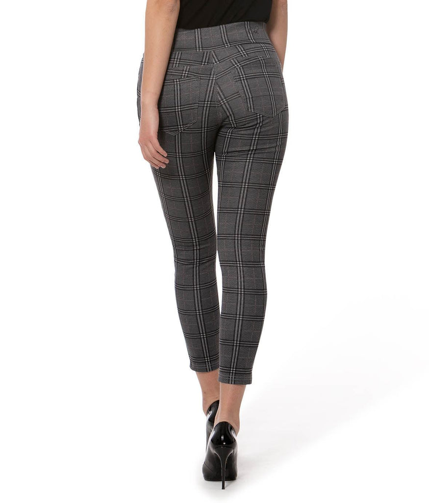 Plaid Jersey Pull-On Pant