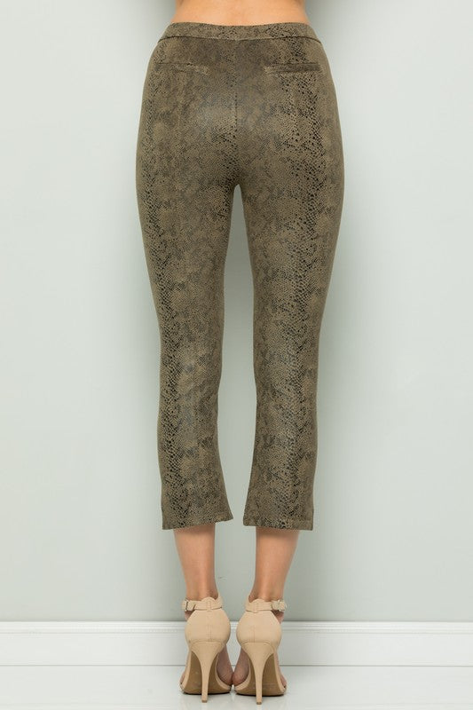 Snakeskin Cropped Pants - FINAL CLEARANCE