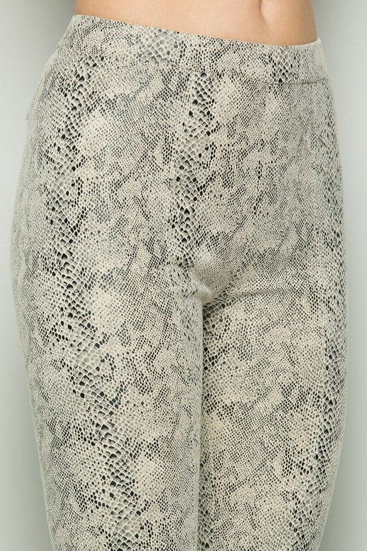 Snakeskin Cropped Pants