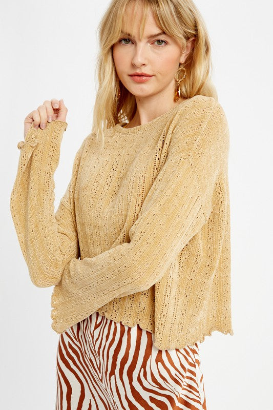 Crochet Chenille Sweater