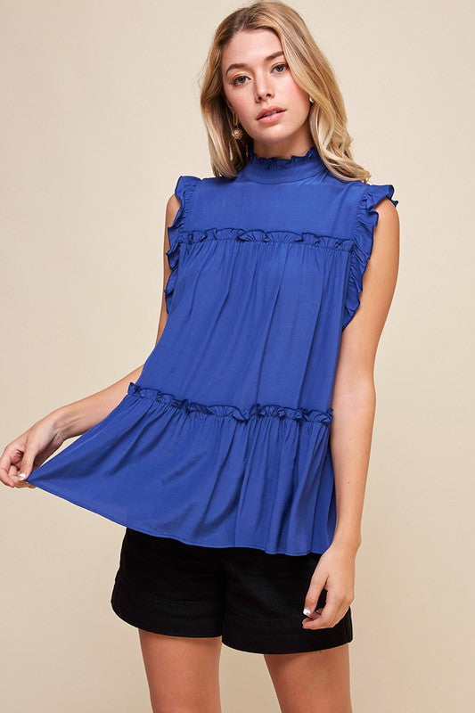 Royal Ruffled Tunic - SALE