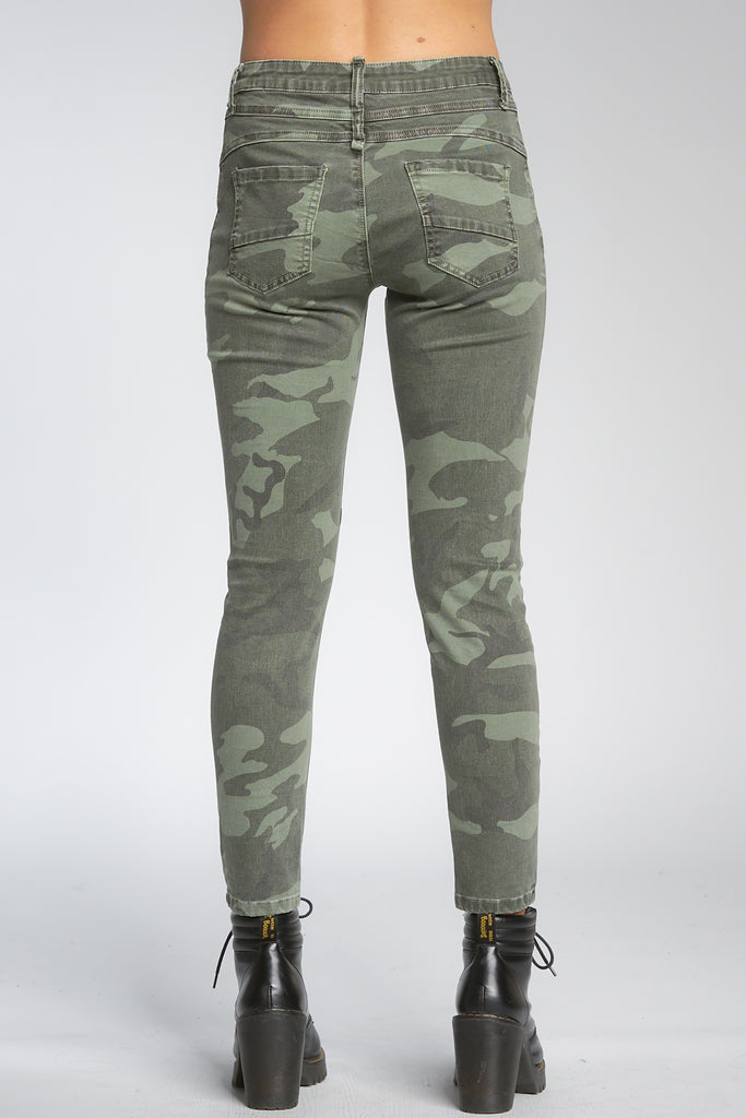 Button Fly Camo Skinny