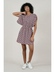Red Geo Cut Out Dress - SALE