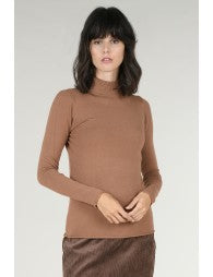 Terracotta Mock Neck Sweater