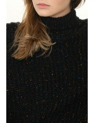 Chunky Flecked Turtleneck Sweater