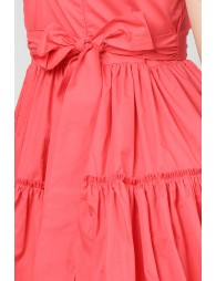Tiered Strappy Coral Dress