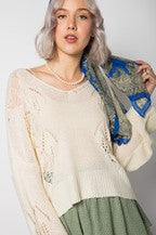 Khaki Open Weave Sweater - SALE