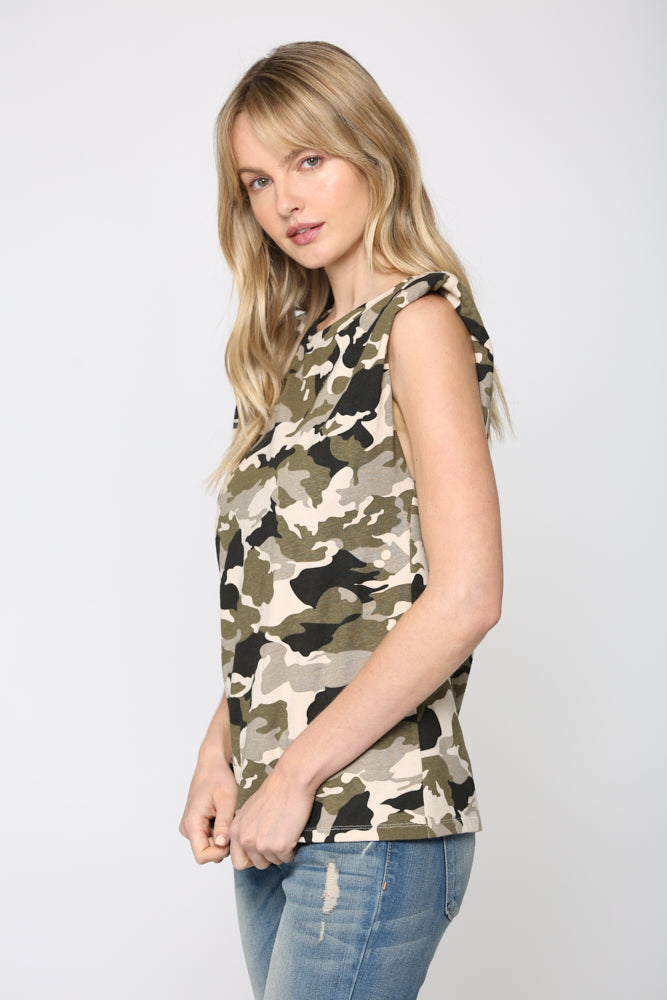 Camo Shoulder Pad Tank