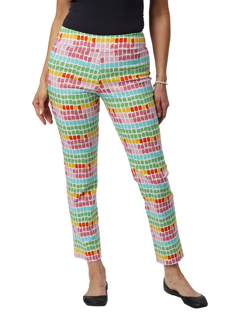 Krazy Larry Pants - White Bright Boxes - FINAL CLEARANCE
