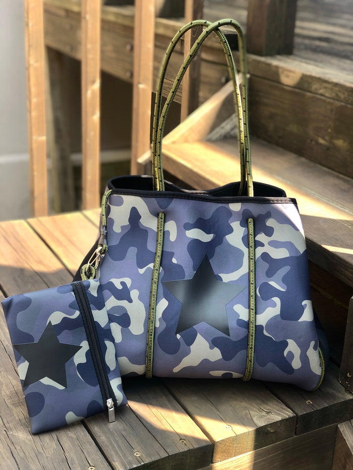 Neoprene Tote Bag - Camo Star